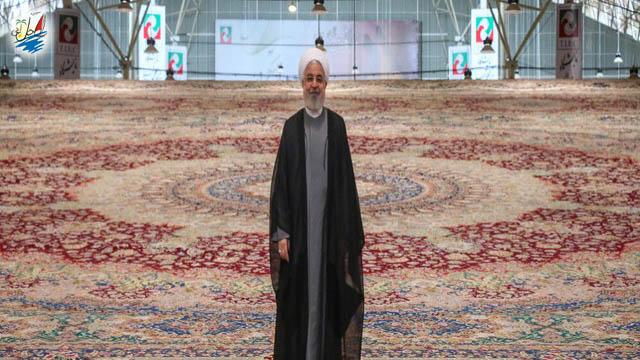 نمایشگاه رونمایی از فرش 100 میلیون دلاری در نمایشگاه بین المللی تبریز