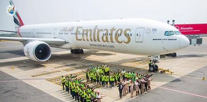 خبر امارت پانزدهمین سالگرد پروازهای خود به غنا را جشن میگیرد