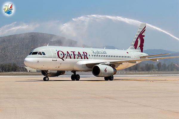 خبر اولین پرواز بدون توقف ایرلاین قطر به بدروم ترکیه