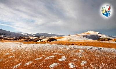 خبر صحرای آفریقا برای دومین سال پیاپی شاهد بارش برف شد.