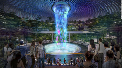 خبر آبشار مصنوعی در فرودگاه سنگاپور