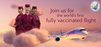 خبر خطوط هوایی قطر اولین پرواز کاملا واکسینه شده کووید 19 را در جهان انجام می دهد